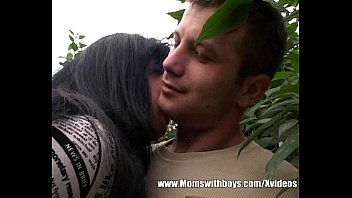 Cybersex with others free - Young gardener garden fuck with brunette mature