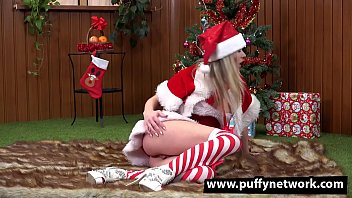 POV cock sucking and ass fucking for Santas little helper