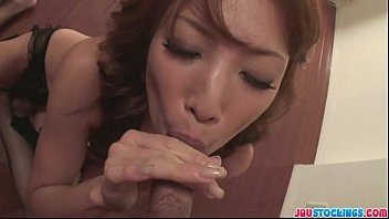 Sexy and funky chick Aya dominates two cocks