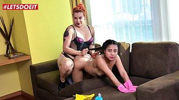 Letsdoeit Horny Female Dominatrix A Her Petite Latina Maid 12 Min