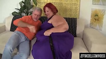 Stuffing her cunt Huge bbw sweet cheeks has a thick cock stuffed in her cakehole and cunt