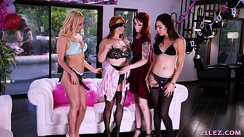 Girls with strap-ons gangbang the Bachelorette - Penny Pax, Violet Monroe, Melissa Moore and Aaliyah Love