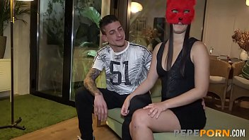 Masked MILF has a sex party with big dicked Mike