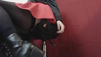 Fetish goth boots Preview snippet fetish clip underdesk voyeur goth schoolgirl in boots stockings
