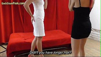 Elegant Brunette Oiled And Licked