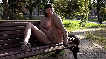 Milf love making Enjoying the summer park