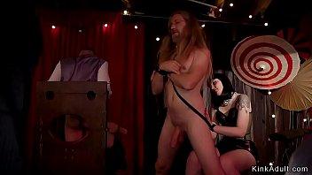 Hot babes gangbanged and whipped at orgy Vorschaubild