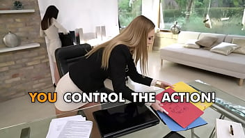 Office blame game ends in anal MFFF foursome punishment 10 min