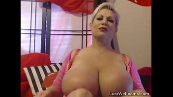 Busty blonde gets machine fucked on cam