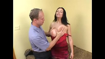 Hot brunette MILF in red corset Angelica Sinn gets anal fucked and a huge facial