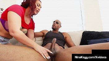 Thick Horny Nina Kayy Stalks, Bangs & Blows Big Black Cock!