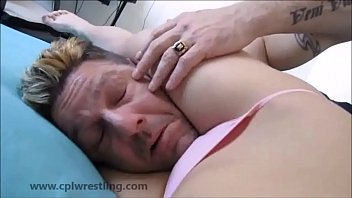 Hot asian dominatrix headscissor - Feebees p.o.v headscissor and facesitting k.o