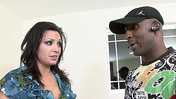 Big dick black guy drills the mouth and the pussy on this big tit white slut Vannah Sterling