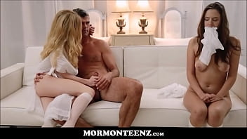 Hot Mormon Teen Wife And Husband Make Teen Girl Watch Them Fuck