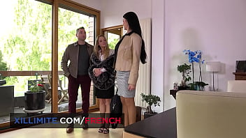 Awes threes h busty French girls Tiffany Leiddi and Ania ski