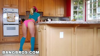 BANGBROS - Strong Arming AJ Applegate's Tight Pussy Behind BF's Back