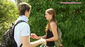 young boy in love with small tits girl just 18 years