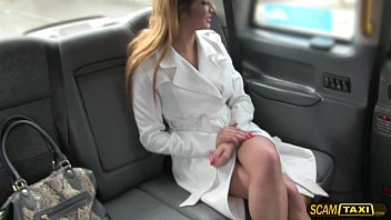 Fishnet lady lingerie Hot lady in fishnet lingerie gets fucked by new cabbie