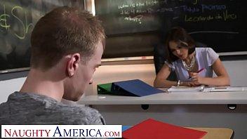 Naughty America - Professor Krissy Lynn takes her students cock thumbnail