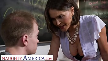 Analese first sex teacher - Naughty america - professor krissy lynn takes her students cock