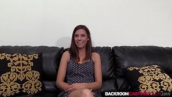 Nubile amateur Eva ass creamed on the casting couch