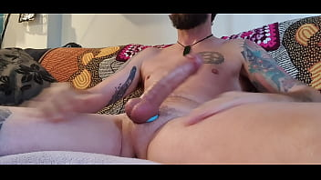Stroking with my favourite cock ring