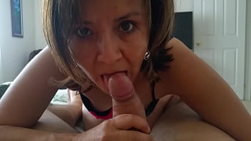 Flowers Giving another Great Blowjob at Home 1