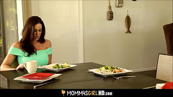 Step Daughter Ariana Marie Licks Mom's Pussy Under A Table 6 min