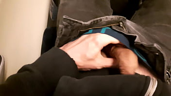 Public dick flash in the train. Stranger girl jerk me off and suck me till I cum. Risky real outdoor 5 min