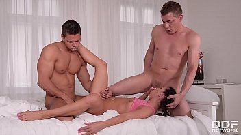 Teen Eveline Dellai's ultra X-rated living arrangement makes her go anal