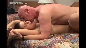 Chunky chick Fucks older man and swallow