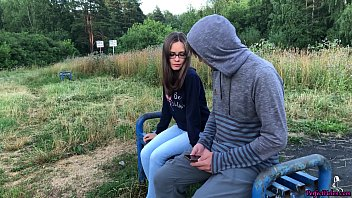 Girl Sucking Dick and Fucking in the Wood - Public Sex 6 min