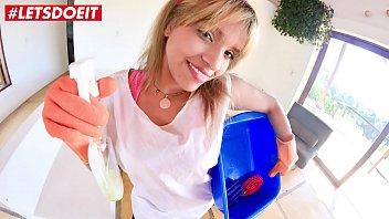 MAMACITAZ - #Kathy Solis - Tiny Latina Maid Rides Hard BBC At Work