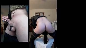 """Annabell crossdresser stretches her ass with a bottle of wine <span class=""""duration"""">4 min</span>"""