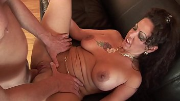 Girl with tattoo on breast - Angelica gets her pussy penetrated by her neighbor while her husband is away on business