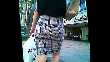 sexy asian in tight skirt