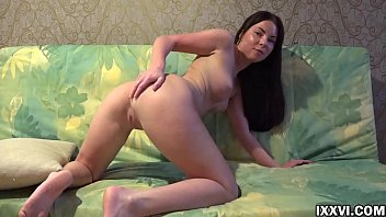 Sexy brunette Angie Koks  show pussy and round ass porn image