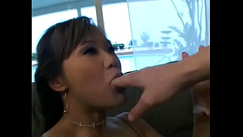Athletically Built Stud Nails Cute Brunette  Mia Smiles With Slant Eyes And Big Tits