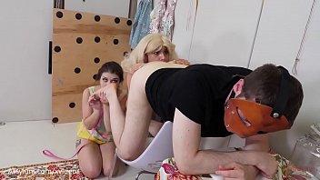 1950s babes worship and share man's ass (deep ass eating with Anastasia Rose, Maria Jade)