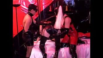 Couple of strict female dominatrixes are doing their slavegirl in the cell