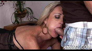 Older babe sucks and swallows Image