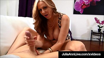 Smoking Hot Cougar Julia Ann Sucks & Strokes POV Cock! video