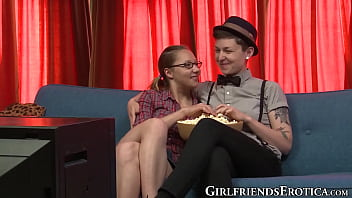 Fingered Maggie Mayhem Shares Dildo With Dyke Tomboy