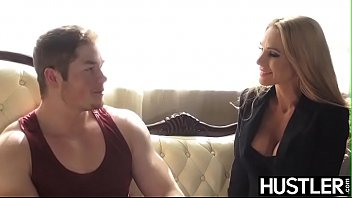 Lusty cutie Sarah Jessie gets hardcore rammed by young stud