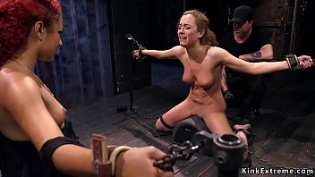 Blonde slave double caned in dungeon 5分钟