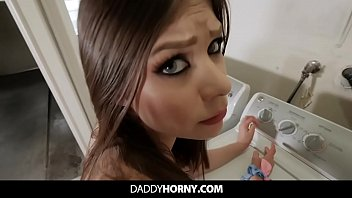 Horny Teen Caught Masturbating By Her Stepdad Gets Fucked In POV
