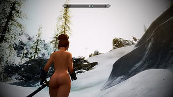 Nude cartton characters Skyrim mod sexy battle with dragon returns