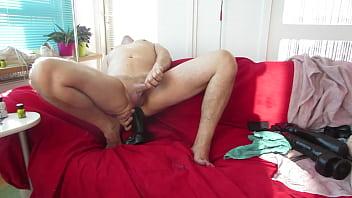 A good cum shot with a big dildo deep in my ass.