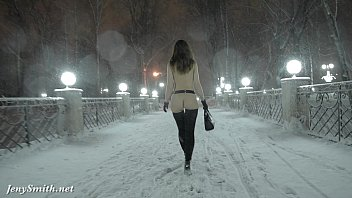 Nude manchester city Jeny smith naked in snow fall walking through the city