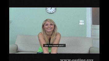 Casting Cute blonde amateur